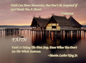 Faith Can Move Mountains Quote
