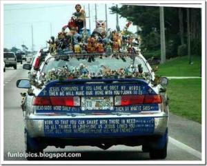 Funny Religious Car.