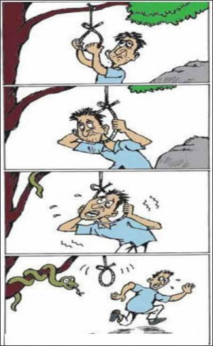Funny Picture - Suicide Attempt