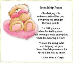 Friendship Poem Oh What Joy It Is To Have A Friends Like You For ...