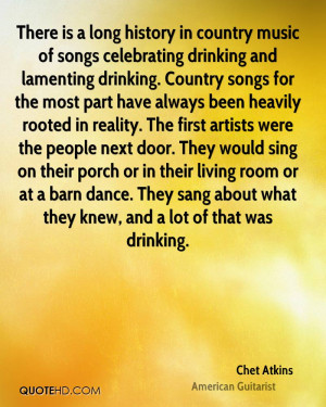 There is a long history in country music of songs celebrating drinking ...