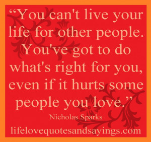 not-live-your-life-quote-on-orange-theme-design-hurt-quotes-about-life ...