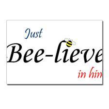 Cute Bee sayings Postcards (Package of 8)