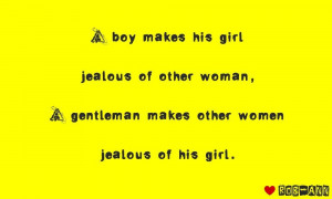 gentleman makes other woman jealous of his girl