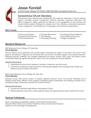 Medical Secretary Resume Examples