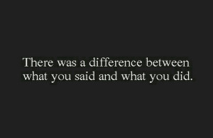Understatement. Quote: There was a difference between what you said ...