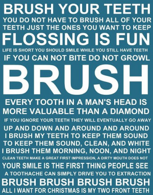 Printables Teeth Brushes, Teeth Quotes, Diy Bathroom, Dental Quotes ...