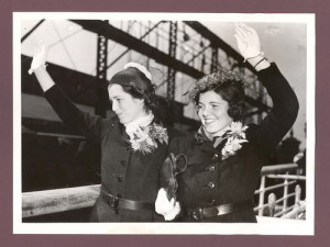 Eunice and Rosemary arriving in England during their fathers ...