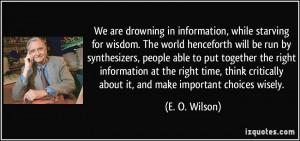 More E. O. Wilson Quotes