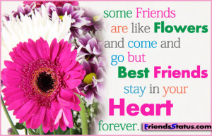 ... Come and Go But BEst Friends Stay In Your Heart ~ Best Friend Quote