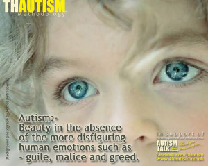Autism quote from Thautism facebook page