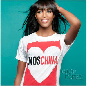 ... Naomi Campbell 's Fashion For Relief charity on a collection of t