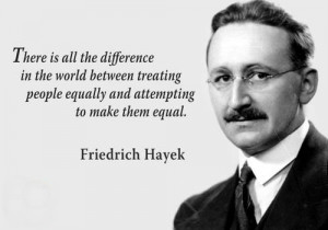 ... between treating people equally and attempting to make them equal