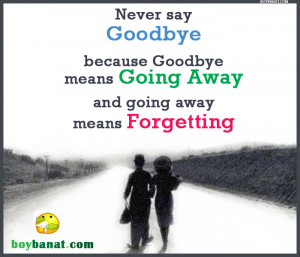 Goodbye Quotes and Goodbye Sayings