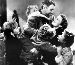 "... watching the Christmas Classic ""It's a Wonderful Life"