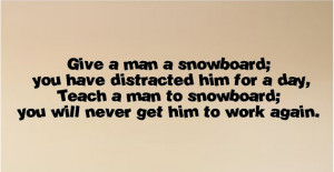 snowboard....Snowboarding Wall Quote Words Sayings Removable Snowboard ...