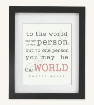 Doctor Seuss Quote - Wall Art Print - Custom Frame & Matting
