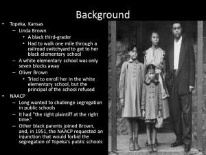 brown vs board of education and plessy vs ferguson essay