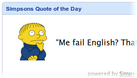 Simpsons Quote of the Day