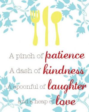 Kitchen Wall Art - Inspirational Quote - 8x10 Art Print - Yellow, Teal ...
