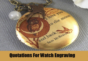 Quotations For Watch Engraving