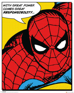 Marvel Classic- Spider-Man (Quote) Mini Poster