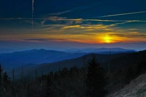 Day break over the Smoky Mountains