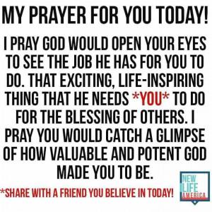 My prayer for you...Josiah