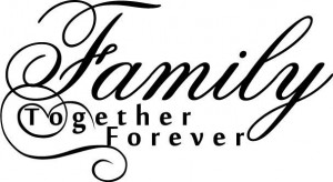 Family-Together-Forever-Cute-vinyl-wall-decal-quote-sticker-decor ...