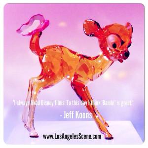 Jeff Koons Quotes on Los Angeles Scene