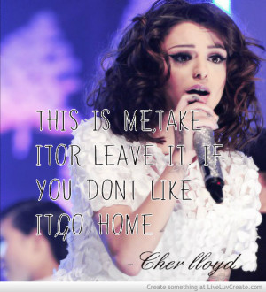 cher lloyd, cute, girls, life, love, pretty, quote, quotes, this is me ...