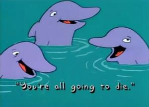 drawing animals gore cartoon TV the simpsons water die ocean sea fox ...