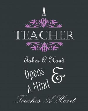 Inspiration ~ Teacher Appreciation (Printable)
