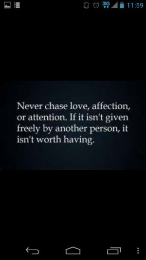Dont chase love