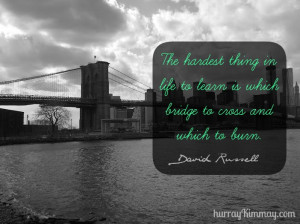 ... of my favorite photos of the Brooklyn Bridge, taken by yours truly