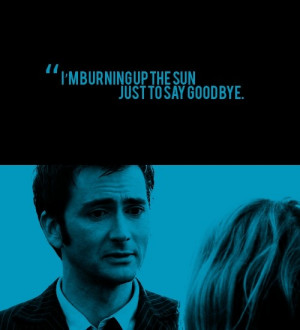 the most romantic quote in the history of Doctor Who. :,(