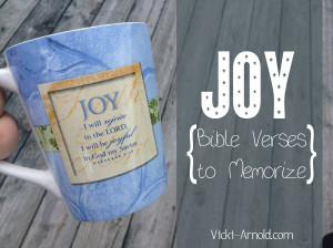 ... One Word . This post is a list of Bible verses to memorize about joy
