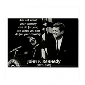 Gifts > Magnets > Famous Quote from JFK Rectangle Magnet