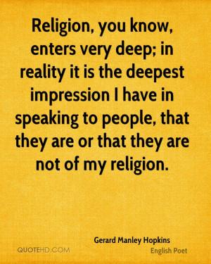 Gerard Manley Hopkins Religion Quotes