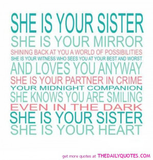 Inspirational Sister Poems and Quotes
