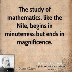 Mathematics Quotes Charles caleb colton quotes