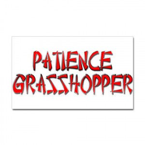 ... strength telethon is Meaning of Patience Grasshopper lives according