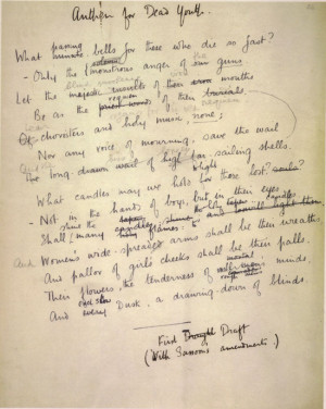 Essay questions wilfred owen poetry