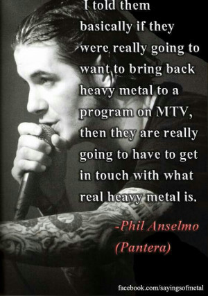 Phil Anselmo on heavy metal music