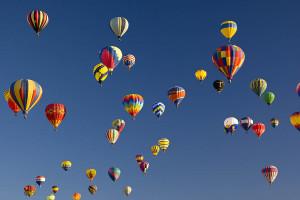 Many Vividly Colored Hot Air Balloons Photograph