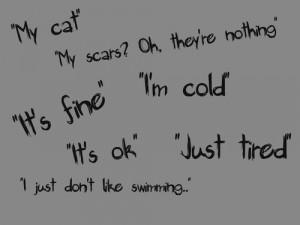 depression eating disorder cut cutter cutting cuts self-harm self-hate
