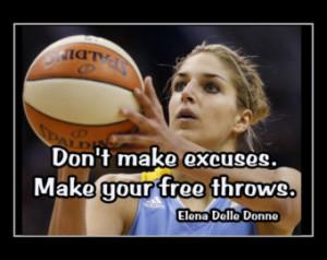 Elena Delle Donne Chicago Sky Delaw are Basketball Poster Photo Quote ...