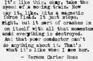 Crashing Trains (prose,poetry,typewritten,black and white)