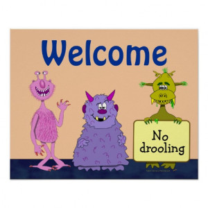 funny_cute_monsters_welcome_back_to_school_kids_poster ...