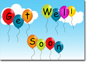 ... > Business Greeting Cards > Get Well Cards > Get Well Soon Balloons